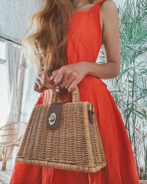Rattan Bag - The Cutie - hübsche Sommertasche - ZOA Lifestyle